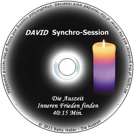 """DAVID Session-CD """"Inneren Frieden finden"""